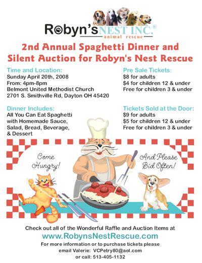 silent auction flyer template